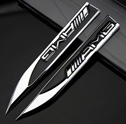 2 xAuto-Aufkleber Metall-Messer-Emblem für schwarze AMG A B C E S R Serie
