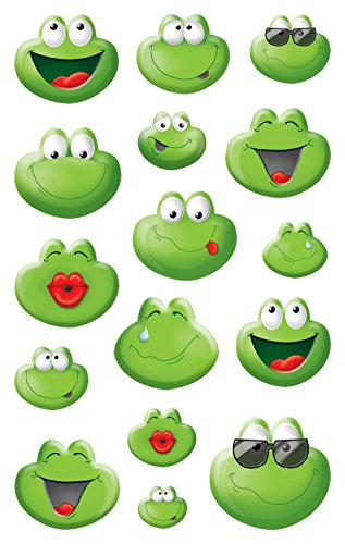 AVERY Zweckform 56095 Deko Sticker Emoticon Frosch 32 Aufkleber
