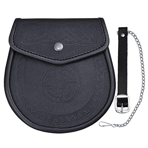 Shyne Kilt-Felltasche, keltisches geprägtes Leder, tradtionelles schottisches Portemonnaie, glattes Finish
