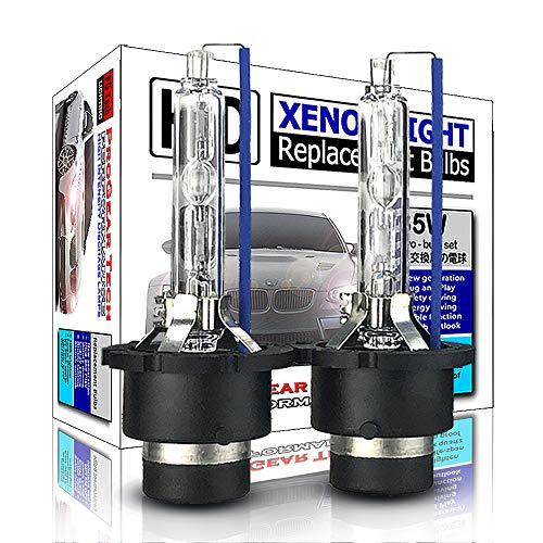 ProGear Tech - Bombillas de repuesto para faros delanteros de xenón D4S D4R HID de 35 W, no mercurio, luz de cruce alta (paquete de 2), 8000 K Iceberg., D4S/D4R