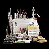 Conjunto completo de laboratorio de Química Colegio Escuela de equipo familiar, Investigación en experimentos de ciencia y Principio Kit de instrumentos de vidrio Suministros para la enseñanza
