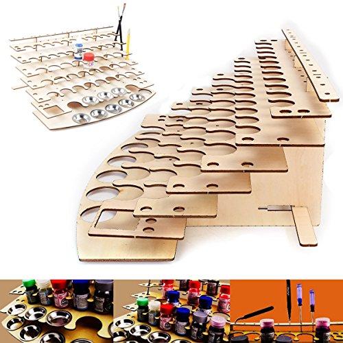 Tutoy 57 macetas de plástico de Madera Pinturas de Color Botella de Almacenamiento Organizador de Soporte de Estante
