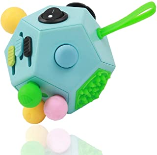 WCZC 12 Side Fidget Cube,Fidget Toys Cube Relief Stress and Anxiety Depression Anti for Kids and Adults with ADD, ADHD, OC...