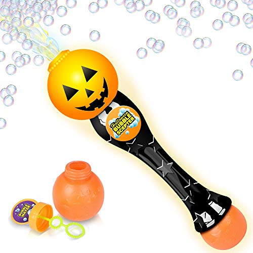 Light Up Halloween Bubble Blower Wand Wand with Thrilling LED Effect for Kids