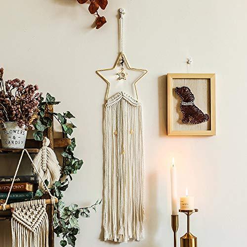 Artículos para el hogar Estrella Macrame tapicería de la pared de la decoración de Boho Brujería Suministros Macrame colgar de la pared del dormitorio de Bohemia Tapiz Psychedelic regalo Decoración ho