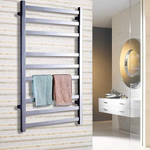 Nuokix Minimalista Calentadores de Toallas de baño de Panel Plano toallero radiador RAD Chrome 1000x 600 mm for la Cocina de un Restaurante Perfecto for baños Secado Rápido