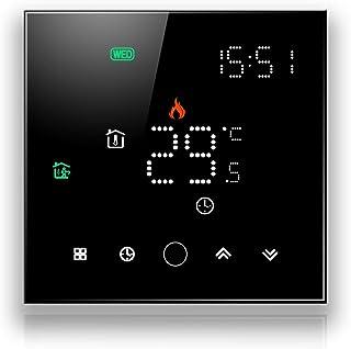 BecaSmart Series 003 Termostato Inteligente WiFi 16A Calefacción eléctrica Pantalla táctil LCD de Control de programación ...