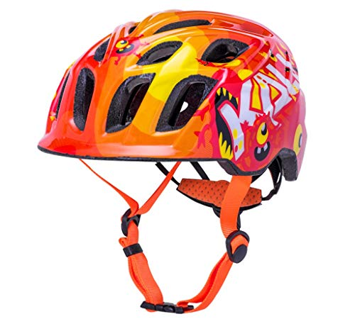 Kali Casco Chakra Child Monsters ORG, Juventud Unisex, Naranja (Naranja), 48-54