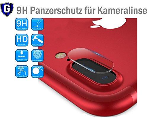 Onyx™ Premium Kamera Objektiv HD+ Panzerfolie Schutzfolie für Apple iPhone 7 Plus 7+ / iPhone 8 Plus 8+ Kameralinse Schutz - 0,2mm Hartglas - 9H Ultra Hart – inkl. 3-in-1 Einbauset