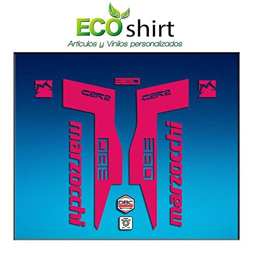 Ecoshirt C6-XYL7-1PLQ Autocollants Fork Marzocchi 380 C2Rc Am71 Aufkleber Decals Autocollants Fourche Gabel Fourche (Rosa