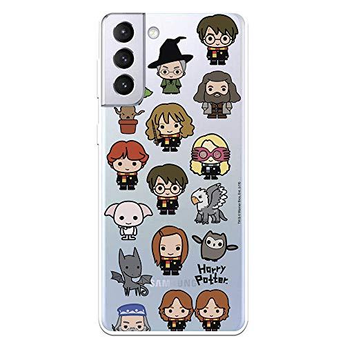 Funda para Samsung Galaxy S21 Plus Oficial de Harry Potter Personajes Iconos. Protege tu móvil con la Carcasa para Samsung de Silicona Oficial de Harry Potter.