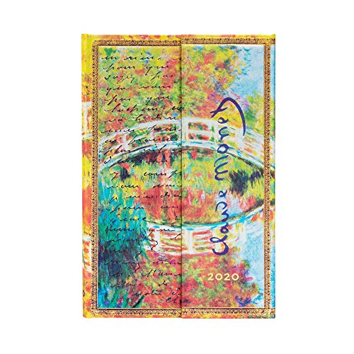Paperblanks - Calendario para 2020, 12 meses, diseño de Monet (El Puente), texto en inglés