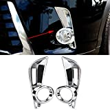Senzeal ABS Chrome Front Fog Light Lamp Cover Trim Replace for Toyota Highlander 2014 2015 2016 2017 2018 2019 2PCS