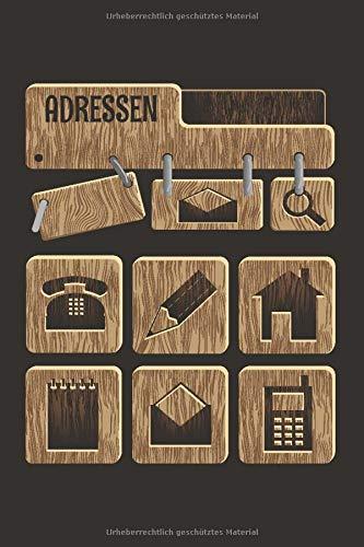Adressen: Adressbuch und Telefonbuch mit Geburtstagskalender A5