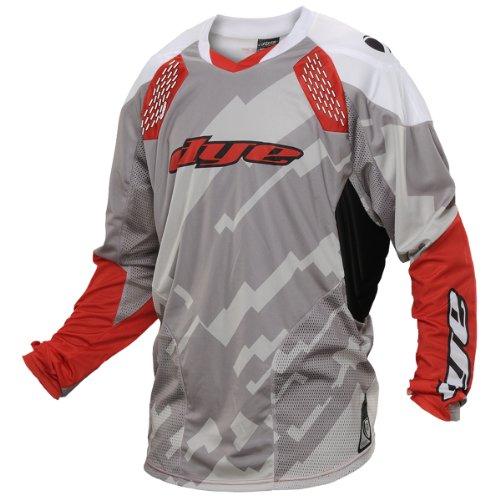 Dye Jersey C14 Airstryke - Camiseta (talla XXL/3XL), color gris y rojo