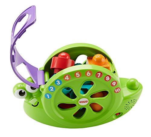 Fisher-Price FRB88 Muziekslak met speelblokken, leerspeelgoed voor kleuren cijfers en vormen, baby speelgoed vanaf 6 maanden, Duitstalig