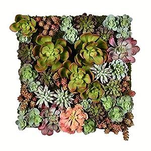 Vickerman 16.5″ Multi-Colored Succulent Wall Arrangement. Artificial-Plants, Multicolor