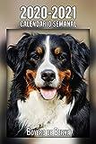 2020-2021 Calendario Semanal Boyero de Berna: 221 Páginas   Tamaño A5   24 Meses   1 Semana en 2 Páginas   Planificador   Agenda Semana Vista   Canófilo   Perro   En Español