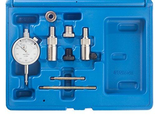 SW-Stahl 26118L OT Finder / Totpunkt Finder / Zündzeitpunkt Einsteller / Kolben Messuhr / Zünduhr / 8-teiliges Set / für Motorräder