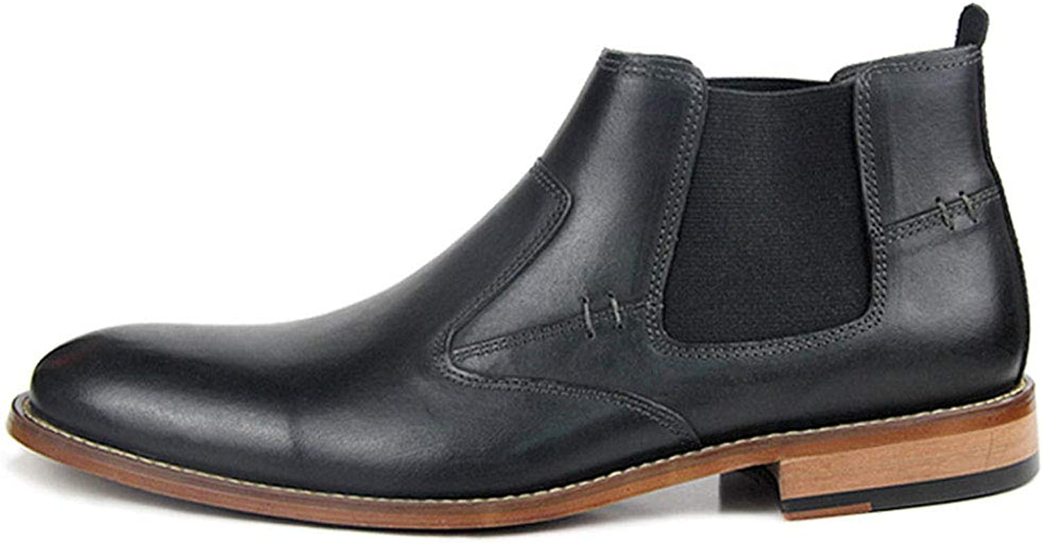 Men's Leather Boots Autumn and Winter Plus Velvet high shoes Men's Boots Men's Leather Boots Martin Boots