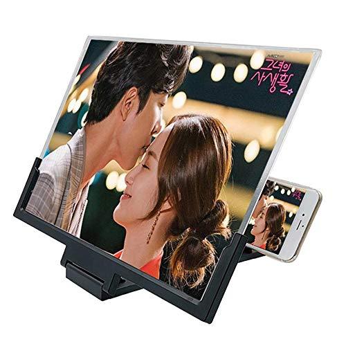 JZWDMD Bildschirmlupe Faltbare 3D-Smartphone-Vergrößerungsbildschirm für Handy-Bildschirm-Vergrößerungs-Extender Film-Video-Bildschirm-Verstärker-Ständer-Halter