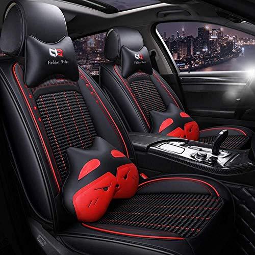 Auto Stoelhoezen Lederen Voor Volkswagen Ijs Zijde BMW E46 E60 E90 Audi A3 A4 B8 Ford Focus Fiat Skoda Snelle Accessoires Auto Styling Zwart