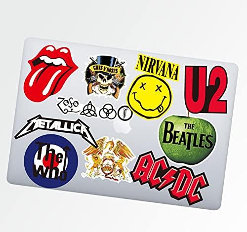Persönlichkeit Classic Band Rolling Stones The Beatles Rock Nirvana Koffer Gepäck Gezeiten Gitarre Helm Wasserdicht Aufkleber 10 Stück