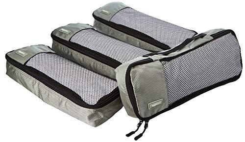 AmazonBasics Packing Cubes - Slim (4-Piece Set), Gray