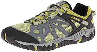 Merrell Men's All Out Blaze Aero Sport Hiking Water Shoe, Castle Rock/Green, 13 M US