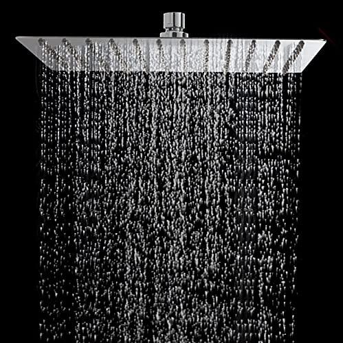 STARBATH Duschkopf Regendusche, Regendusche 12 Zoll Brausekopf aus Edelstahl 304, Duschkopf mit 139 Antikalk-Düsen, Einbau Duschköpfe Regenduschkopf 30×30cm