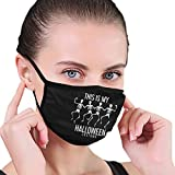 Unisex Face Mouth Mask This is My Halloween Costume Outdoor Dust Mask for Camping Travel Anti-Dust Black
