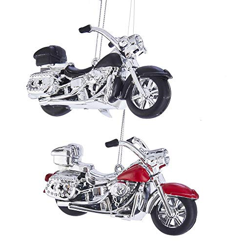 The Bridge Collection Replica Motorcycle Ornaments, Set of 2 Assorted