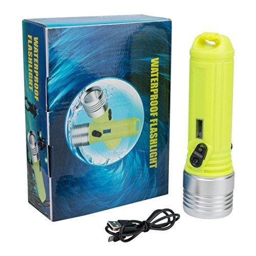 Alikeey Dompellamp, waterdicht, 3 modellen, XM-L L2 LED-zaklamp, 18650, oplaadbare aluminium