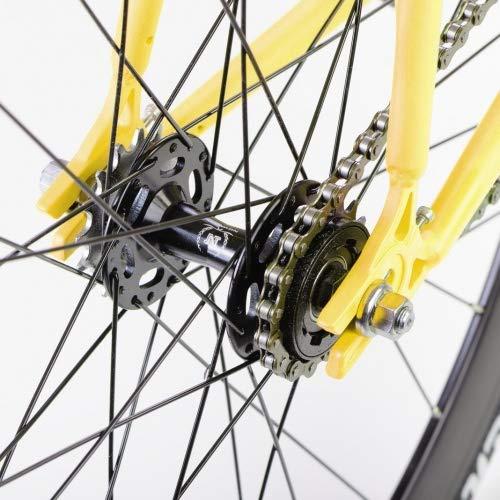 bonvelo Singlespeed Fixie Fahrrad Blizz Mellow Yellow (Large / 56cm für Körpergrößen von 170cm bis 181cm) - 6