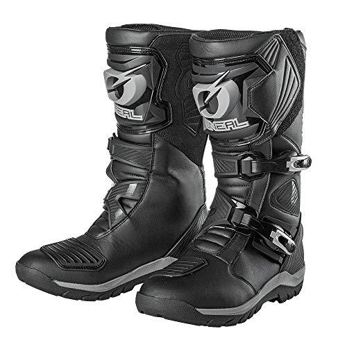 O'NEAL | Motorradstiefel | Enduro Adventure | Robuster & wasserdichter Tourenstiefel, Metallverstärkte Innensohle, Austauschbares Fußbett | Sierra Pro Boot | Erwachsene | Schwarz | Größe 46