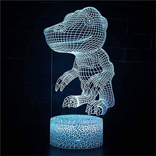 Greymon 3D LED lámpara de noche lámpara de mesa dormitorio carga USB para decoración del hogar juguetes frescos regalos cumpleaños Navidad