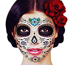 Get Day of the Dead makeup skull faces (AFFILIATE)