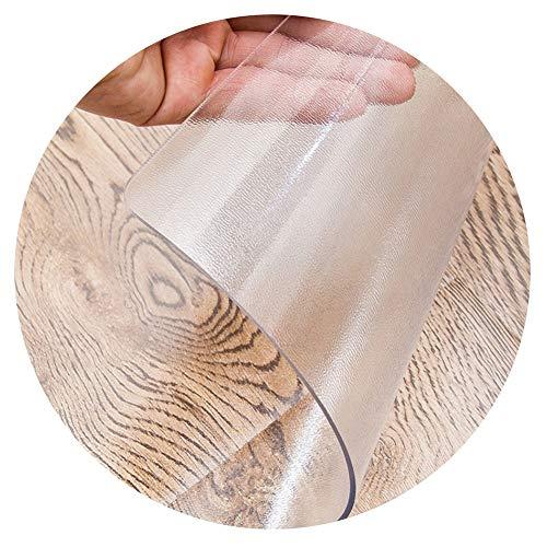 LICHUN PVC Manteles Transparente Escarchado Mantel Rectangular Protector De Mesa Piso Almohadillas Mascota Estera Decoración Hogar Impermeable (Color : A, Size : 90x140cm)