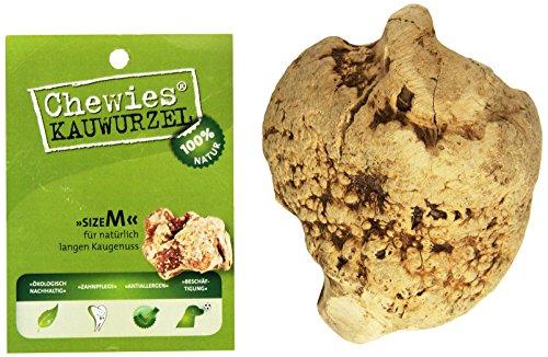 Cheamische kauwwortel voor honden - kauwspeelgoed van boomheide wortel - onbreekbaar en 100% natuurlijk - voor langdurig kauwplezier - verkrijgbaar in 3 maten (S, M, L), Medium