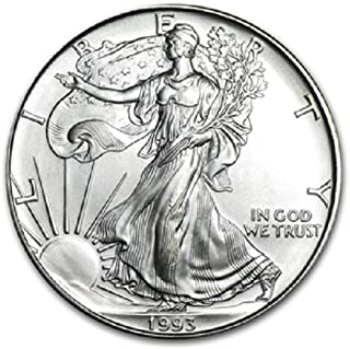 1993 American Silver Eagle .999 Fine Silver Dollar Uncirculated US Mint with Our Certificate of Authenticity