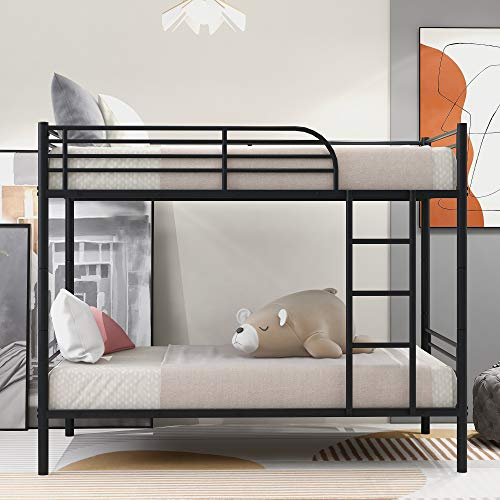 GENPO Twin Over Twin Metal Bunk Bed for Kids and Teens,Can be Divided into Two beds,No Box Spring...