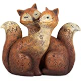 Loving Seperable Fox Family Statue Ornament Decorations by Jones Home and Gift