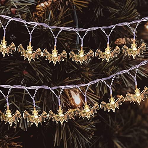 Luces de 1.5m 10 luces. DIRIGIÓ Halloween Ghost & Bat Light String Halloween String String String String Tipo de batería Lámpara para Inicio Indoor y al aire libre Fiesta de fiesta Decoración de Hallo