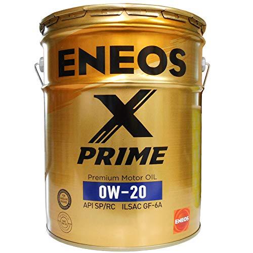 ENEOS X PRIME (エックスプライム) エンジンオイル 0W-20 SP/RC GF-6A (100%化学合成油) 20L缶(ペール缶)