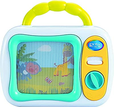 My First TV Baby Musical Television Toy Box with Colourful Toy Safari Jungle Animals and Sleepy Lullaby Play for Ages 6 Months Up Infant Baby Toddlers Boys Girls, Safety Tested, BPA Free by The Magic Toy Shop