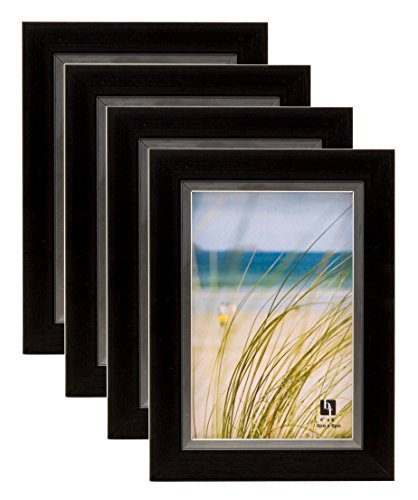 bordertrends legado 4x 15,24cm marco de fotos, negro (Pack de 4unidades)