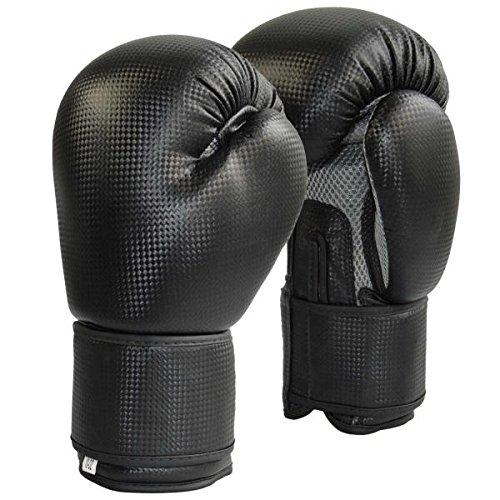 Explode Sports Boxhandschuhe im Carbon Look | mit Innenbelüftung für Herren und Damen | Boxen - Herren und Damen | Kickbox Handschuhe aus hochwertigem Kunstleder | für Training und Sparring (12 UZ)