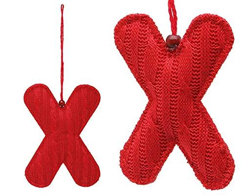 Atosa - 34495 - VR. Accessoire noël 7.5x10x1cm Textile Rouge