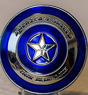 Thin Blue Line Shield Police Challenge Coin