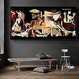 Cuadro abstracto de Picasso Guernica con diseño de lienzo y impresiones de pared...